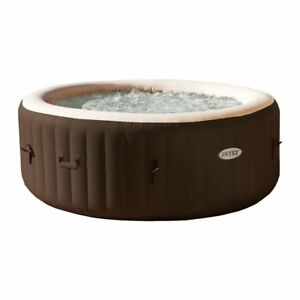 Intex-PureSpa-4-Person-Inflatable-Bubble-Jet-Spa-Portable-Heated-Hot-Tub-Brown