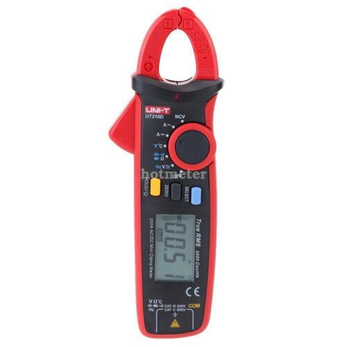 H● UNI-T UT210D Digital Clamp Meter AC//DC Current Voltage Multimeter Temp Tester