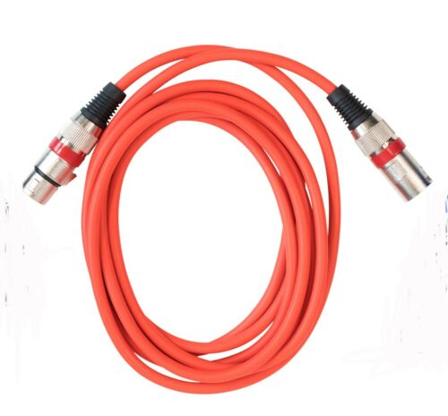 Red 5M Microphone Lead Mic Cable XLR Patch Balanced Male Female Plugs Speake