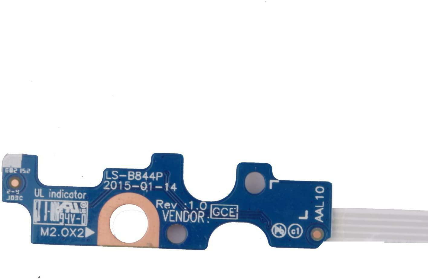 New Dell Inspiron 14-5458 15-5566 176HK LS-B844P Power Button Board