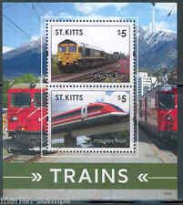 ST. KITTS 2015 TRAINS SOUVENIR SHEET II MINT NEVER HINGED