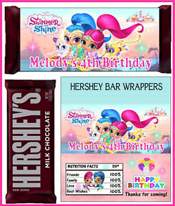 Image Is Loading SHIMMER AND SHINE BIRTHDAY PARTY FAVORS CANDY BAR