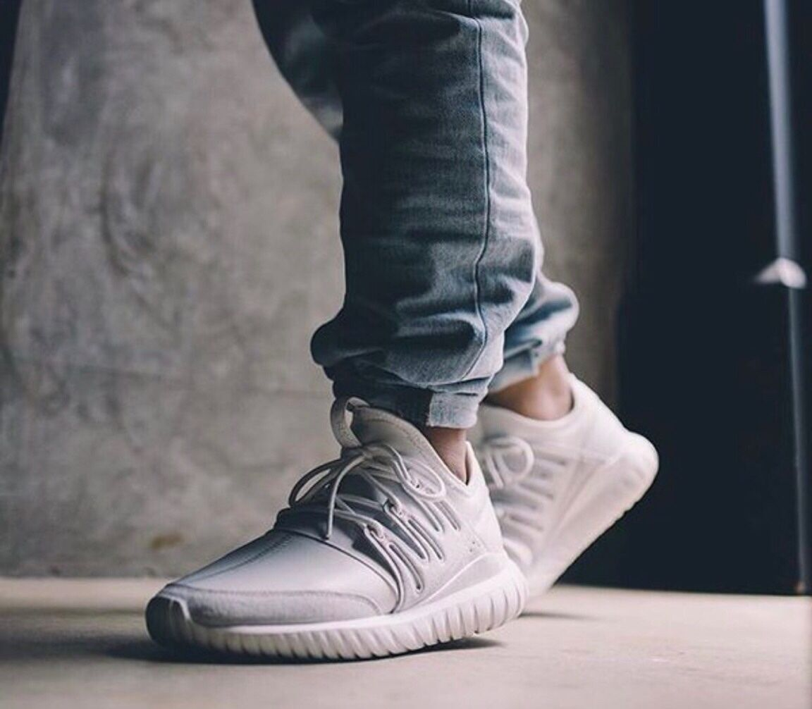 womens adidas tubular radial off white