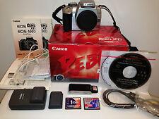 Canon EOS Digital Rebel XTi / 400D 10.1 MP Digital SLR Camera Silver + EXTRAS