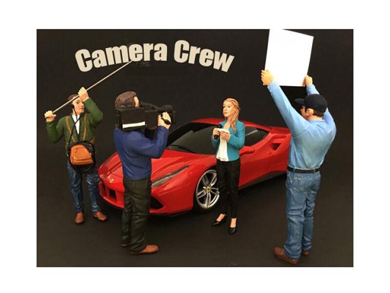 Camera Crew 4 Piece Figure Set For 1 1 1 24 Scale Models - 77477-77480 bcf695