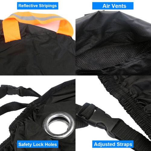 XXL Heavy Duty Waterproof  Motorcycle Cover Touring Road Bike Rain UV Protector