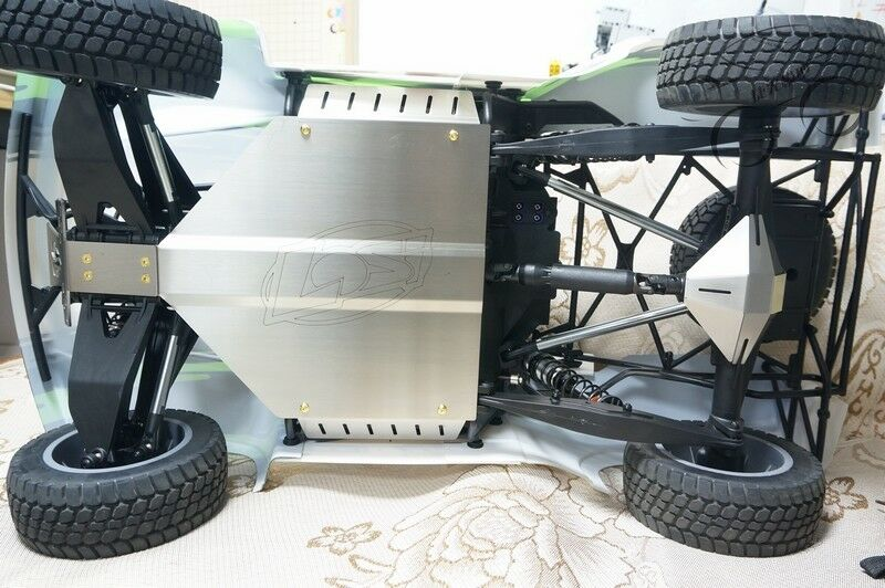 Stainless Steel Chassis Armor Skid Plate Rear Guard for 1/6 LOSI SUPER BAJA REY