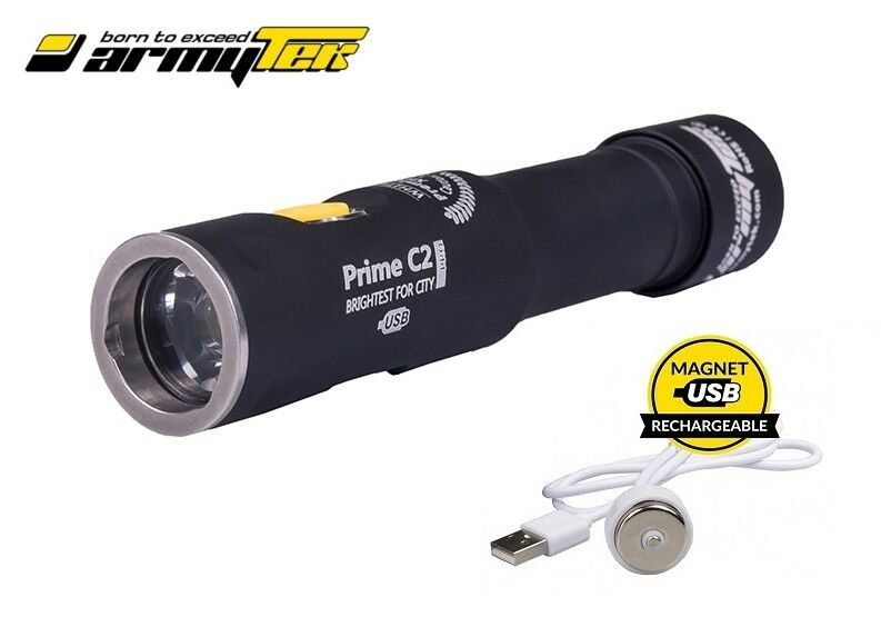 New Armytek Prime C2 Pro Magnet USB v3 Cree XHP35 1950LM Flashlight No battery