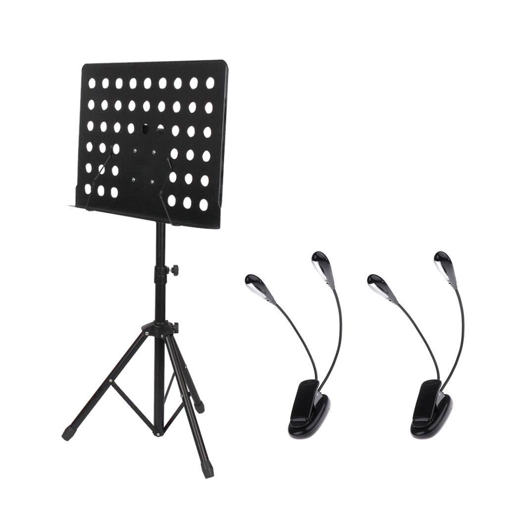 Atril Ajustable Ajustable Ajustable con Soporte de música 2x de clip en lámparas práctica Accesorio 9ce773