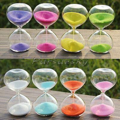 Colors! 5Min Sandglass Hourglass Timer Clock Xams Gift Cake Coffee Table Decor