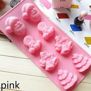 Merry Christmas Cookies Candy Decor Chocolate Baking Cake Cutter Silicone Mold S
