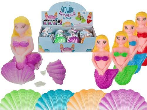 Sirena Crescente In Conchiglia 7 Cm 4 Colori Assortiti Gioco Per Bambine