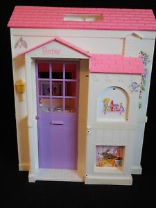 Vintage Barbie Pretty Pink Folding Doll House Ebay