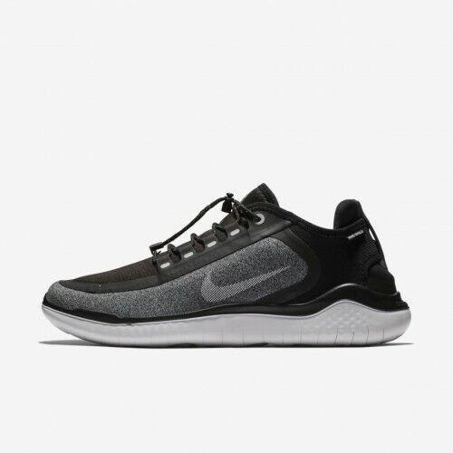 Nike Free RN 2018 Shield AJ1977 001 Black White Cool Grey Men's Running Shoes