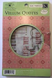 classic k mckenna vellum paper quotes book pc k company •phrases