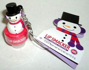 BonneBell-SNOWMAN-Keychain-Topper-Fits-On-The-Cap-Of-Your-Lip-Smacker