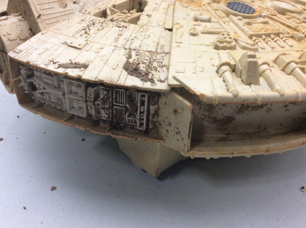 Star Wars Millennuim Falcon Vintage Toy Toy Toy & Box ROUGH SHAPE as found ae65ba