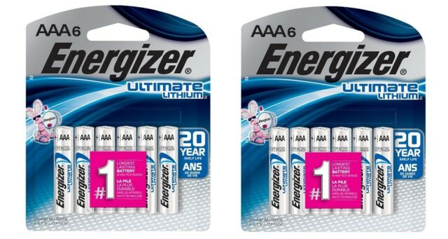 12 AAA Energizer Ultimate Lithium Batteries L92BPF Exp 12/2037 New Sealed