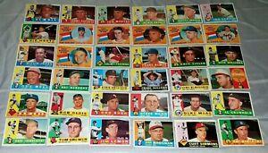 1960 Topps Baseball Cards - Vintage lot - Free Shipping