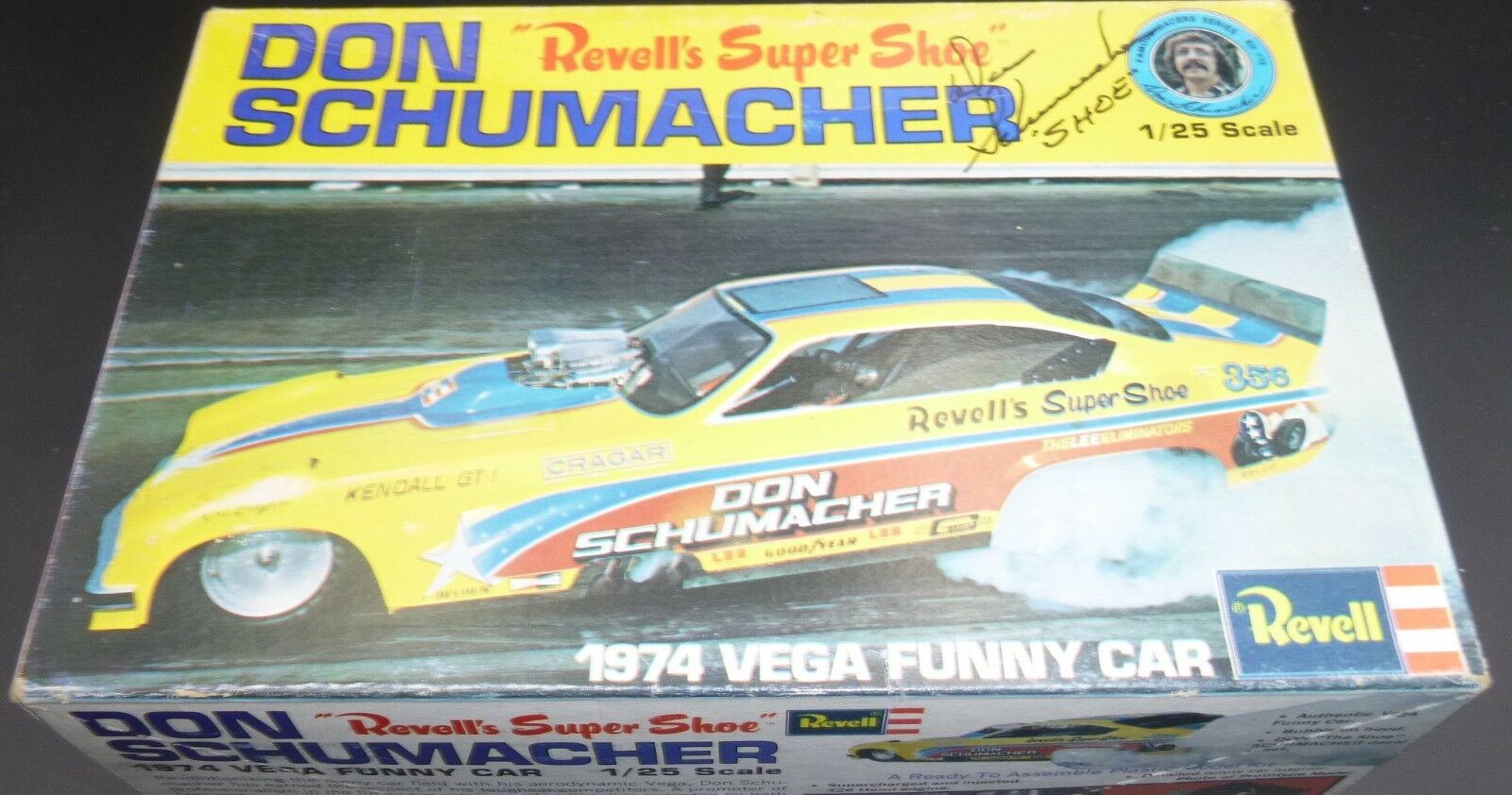 Revell AUTOGRAPHED 1974 Don Schumacher's Vega Funny 1 25 Model Car Mountain