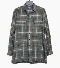 Ralph Lauren Polo Benford - M - Army Green Plaid Over-Sized Flannel Shirt Jacket
