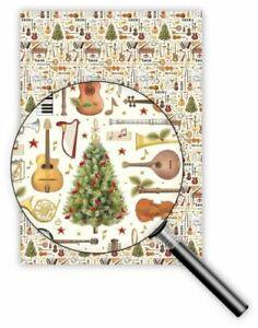 QUIRE-Geschenkpapier-Weihnachten-50-x-70cm-Musikinstrumente