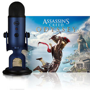 BLUE-MICROPHONES-Midnight-Blue-Yeti-w-Assassin-039-s-Creed-Odyssey-Bundle