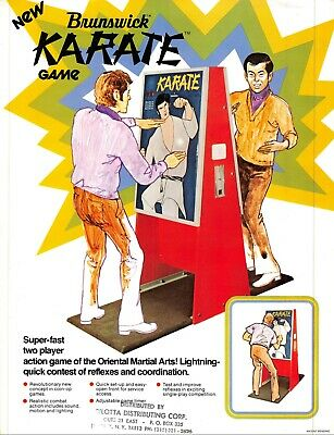 Arcade, Jukeboxes & Pinball Arcade Gaming Brunswick Karate Arcade Game Vintage Advertising Sales Flyer 1974 021219ame