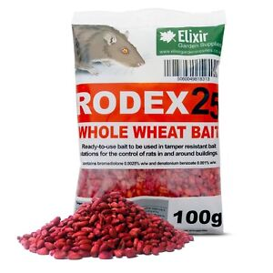 Rodex25 Whole Wheat Rat Poison    STRONGEST BAIT AVAILABLE   One Dose Rat Killer