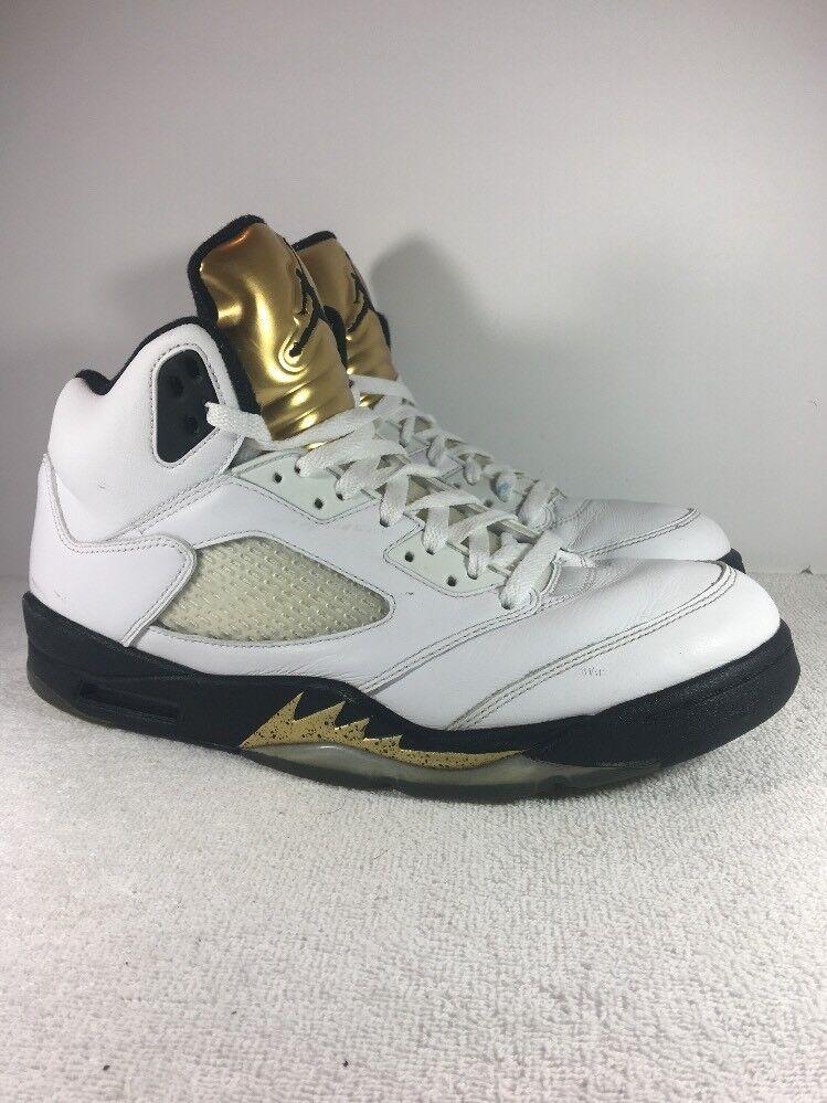 Nike air jordan 5 / retro - alle 2016 e medaglia d'oro alle - olimpiadi 136027-133 taglia 10 monete b294de