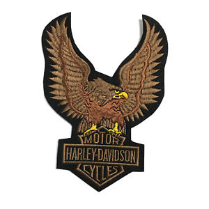 Harley-Davidson-Motor-Cycle-Large-Eagle-Embroidered-Patch-Iron-On-7x9-8-034-18x25Cm