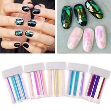 5 Colors Newest Broken Glass Foils Finger DIY Nail Art Stencil Decal Stickers H7