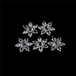 5Pcs-Clear-Acrylic-Crystal-Snowflakes-Snowflake-Ornaments-Party-Christmas-GT