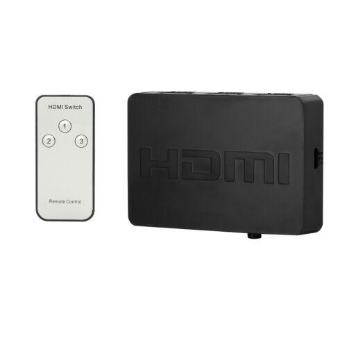 Neuer 3D 1080p 3x1HDMI Switch Hub Splitter Converter Switcher mit Remote ZdJMHWC