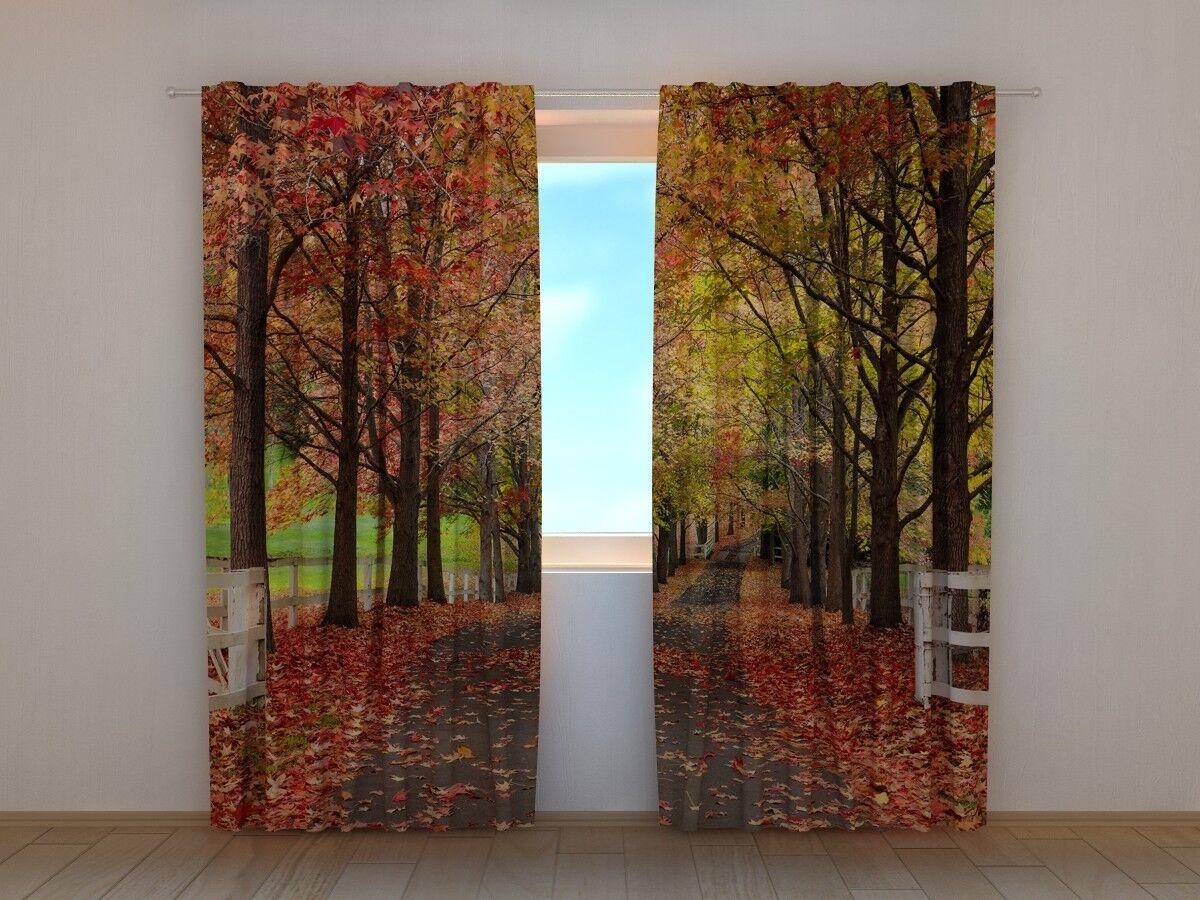Curtain Curtain Curtain with Print rot Fall Wellmira Ready Made 3D Bedroom Seasonal Curtain a51646