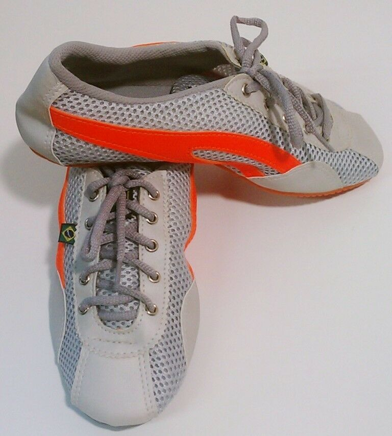 Taygra Brasilien Grau & Orange Schmal Sneakers Flexibel & Hell Schuh Größe 39
