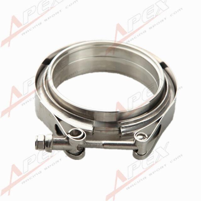 "OBX Clamp V-Band /& 2pcs Flange 2.0/"" Aluminum Kit"
