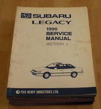 90 1990 Subaru Legacy Service Shop Manual 6 Volume Set Original OEM Repair Books