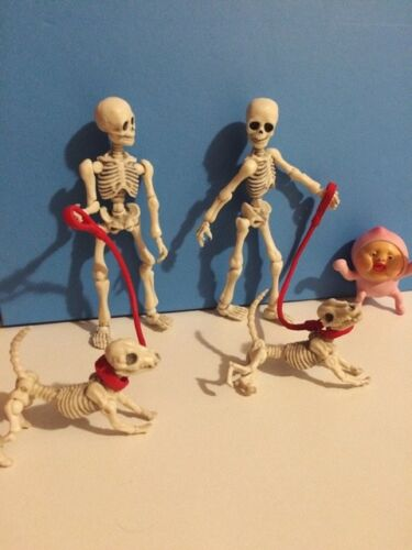 Re-ment Miniatures Skull Figure Pose Skeleton Figma Action Accessories Toys Gift