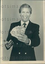 1985 Tic Tac Dough TV Game Show Host Jim Caldwell Press Photo