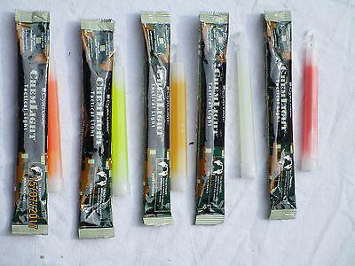 Blue Green Yellow Orange Red Glowstick Cyalume Snaplight Clear-Cut Texture 20x Lightstick