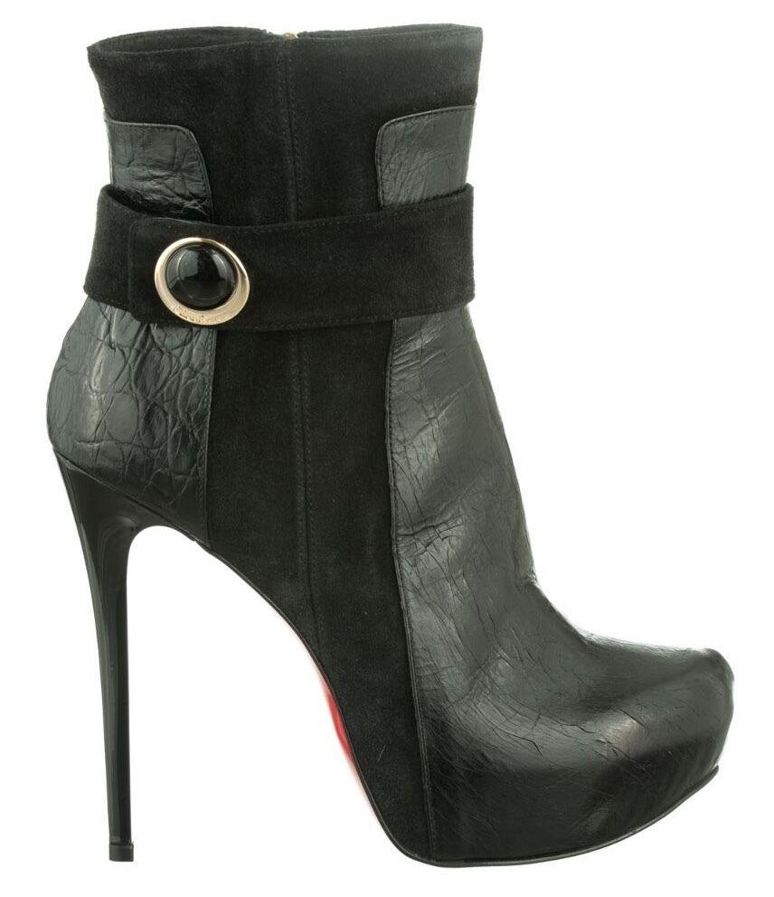 Zapatos de mujer baratos zapatos de mujer MORI STIEFEL MADE ITALY ANKLE BOOTS STIEFEL MORI STIVALI SHOES KROCO LEATHER BLACK NERO 39 e3e4b2