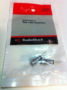 Subminiature Red LED Assembly #276-0068 By RadioShack
