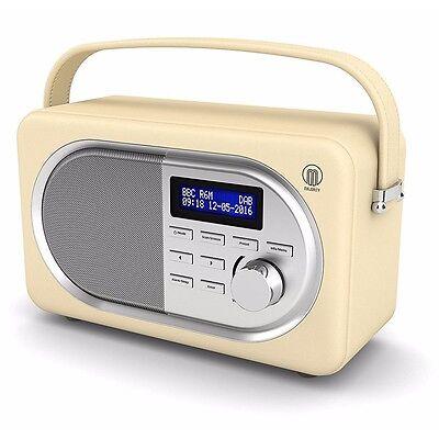Majority Portable Digital DAB+ / DAB FM Radio, Leather Effect, Alarm