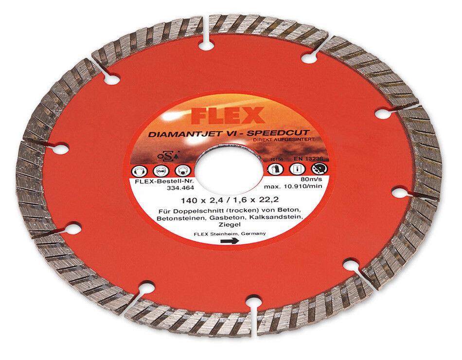 FLEX 140mm Diamanttrennscheibe Diamantjet VI Speedcut 334.464 für MS 1706 334464