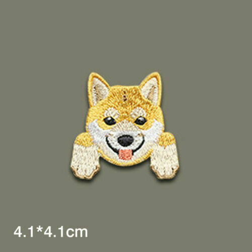 Cute Dogs Embroidered Patches Sew On Iron On Badge Diy Fabric Applique Craft
