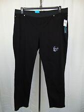 INC International Concepts Plus Size Slim Tech Skinny Jeans 20W Black #4058