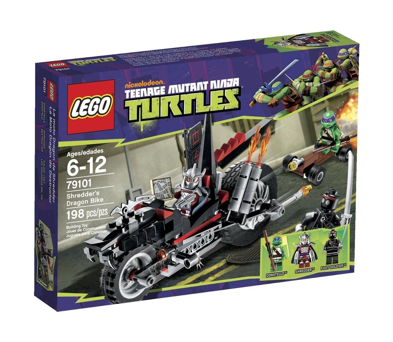 Lego TMNT Turtles 79101 SHrossoDER'S DRAGON BIKE Shrossoder Donatello Claws NISB