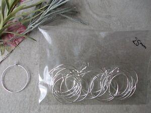 20 X CHOOSE SIZE 25mm,35mm,45mm WINE GLASS//BOTTLE CHARMS HOOPS TASSEL EARRINGS