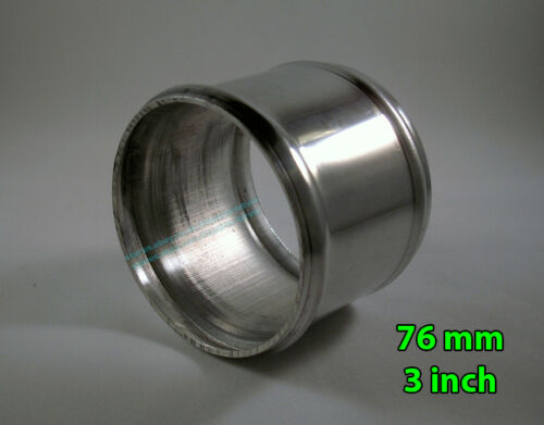 """76mm 3"""" Aluminum Pipe Coupler Rubber Silicone Hoses Connector Adapter L=60mm"""